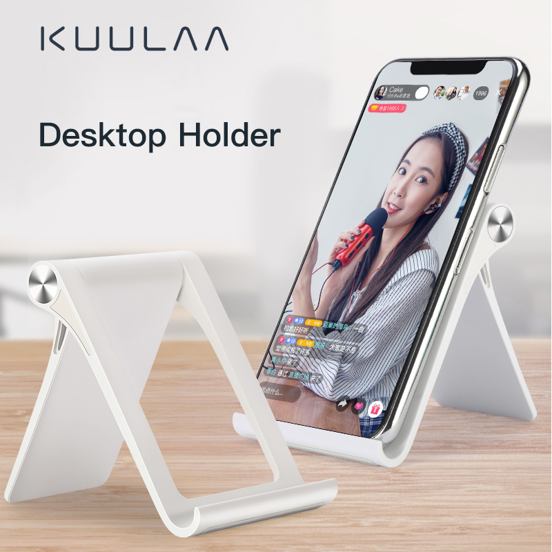 KUULAA Mobile Phone Holder Stand Universal Foldable Holder For IPhone 11 Pro Max Desk Tablet Stand Cell Phone Holder For Xiaomi