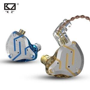 Image 3 - KZ ZS10 פרו זהב אוזניות 4BA + 1DD היברידי 10 נהגים HIFI בס אוזניות באוזן צג אוזניות רעש ביטול מתכת אוזניות
