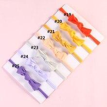 Bandeau élastique en Nylon pour filles, 6 pièces/lot, accessoires de cheveux, Bandeau extensible pour nouveau-né