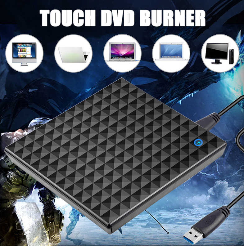 USB 3.0 חיצוני DVD Burner מקליט DVD RW כונן אופטי CD/DVD ROM נגן MAC OS Windows XP/7/8/10 ABS פלסטיק חומר