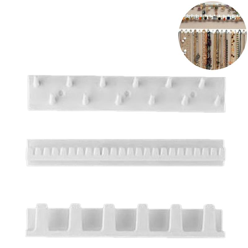 9 In 1 Jewelry Display Organizer Adhesive Paste Wall Hanging Storage Jewelry Hooks Earring Ring Necklace Hanger Holder Stand