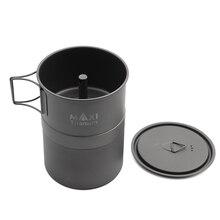 TOAKS MAXI Titanium Moka Stove Stovetop Espresso Coffee Pot Ultralight Outdoor convenient mocha pot