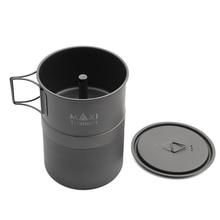 TOAKS ماكسي التيتانيوم موكا موقد موقد اسبريسو إبريق قهوة خفيفة في الهواء الطلق مريحة موكا وعاء