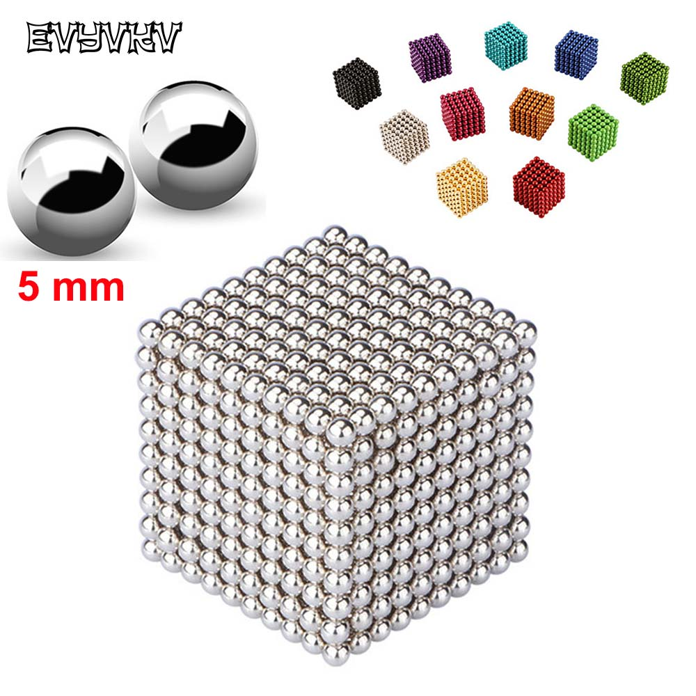 EVYVKV 216 PCS/set Magnetic Balls 5mm Magnet Constructor Magnet Game Bucky Ball Geomag Puzzle Kids Educational Toys For Children