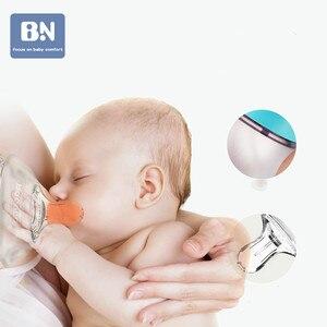 Beineng бутылочка для новорожденных, с антиплоским покрытием, с широкой апертурой, силиконовый ремешок для соски, соломенная ручка
