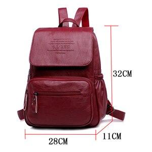 Image 2 - LANYIBAIGE sac à dos en cuir PU pour femmes, sac décole de luxe de bonne qualité, à la mode, grande capacité, pour voyage Ba
