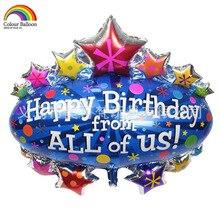 От производителя воздушный шар из фольги день рождения шатер звезда Алюминиевая фольга Свадебные Декорации для вечеринки на день рождения стены