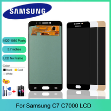 Super AMOLED LCD Screen for Samsung Galaxy C7 C7000 LCD Display Touch Digitizer Assembly C7 SM-C7000 LCD Replacement Parts