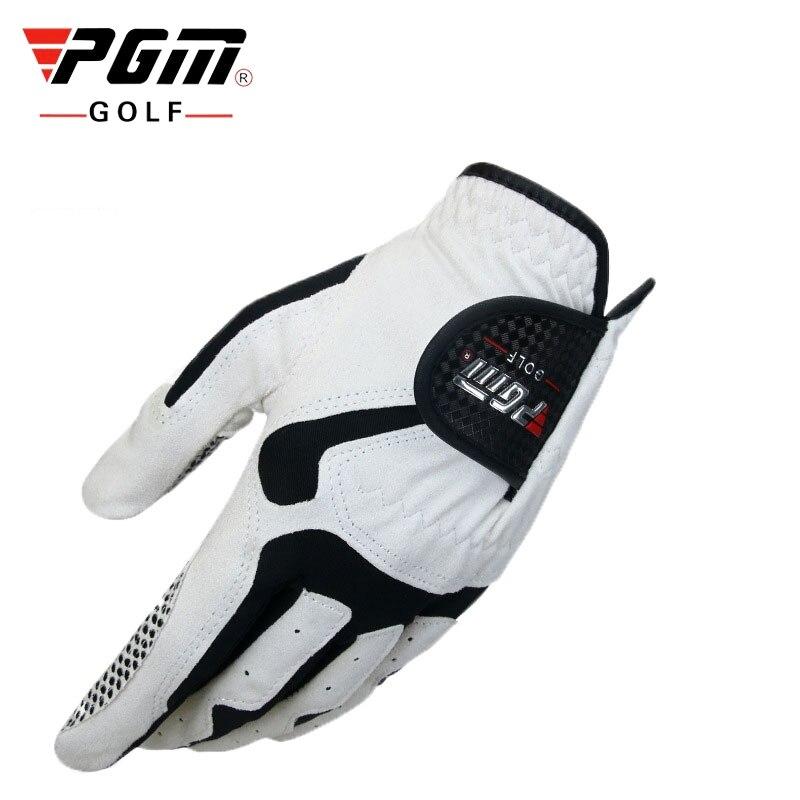 Luvas de Golfe Esportivas dos Dedos Marca Masculino Esquerda Respirável Abrasão Luvas Completos Golfe Acessório D0012 Pgm Mão