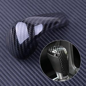 DWCX Plastic Black Carbon Fiber Style Gear Shift Knob Cover Trim Fit for Mazda 3 Axela 2014 2015 2016 2017(China)