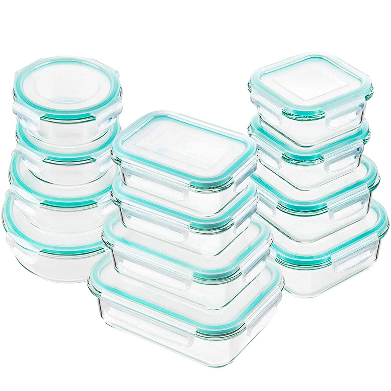 Стеклянные контейнеры для хранения пищевых продуктов с крышками, стеклянные контейнеры для подготовки пищи, герметичные стеклянные контей...