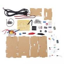 цена на 220V DIY Adjustable Voltage Power Supply Board Learning Kit With Case EU Plug
