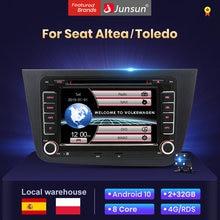 Junsun 2Din Android 10 2 + 32G radio coche con multimedia pantalla para Seat Altea XL 2004-2015 Toledo 2003-2009 Automóvil Bluetooth/Carplay/gps Navegación stock in spain