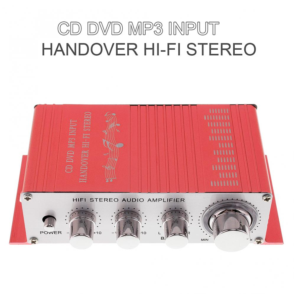 Car Amplifiers 12V 5A Handover Hi-Fi Car Stereo Amplifier Support CD / DVD / MP3 Input