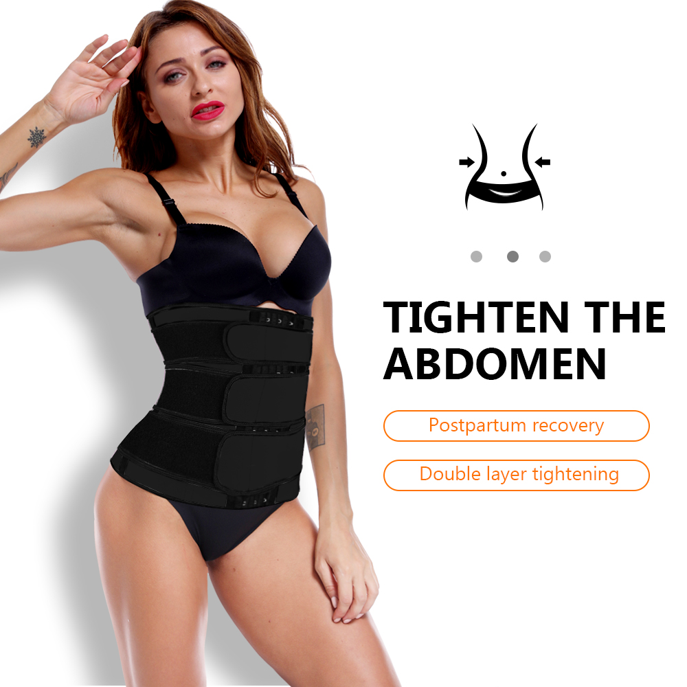 Waist Trainer Slimming Belt Body Shaper Slim Belt For Women Tummy Control Modeling Strap Corset Waist Cincher Trimmer Girdle-4