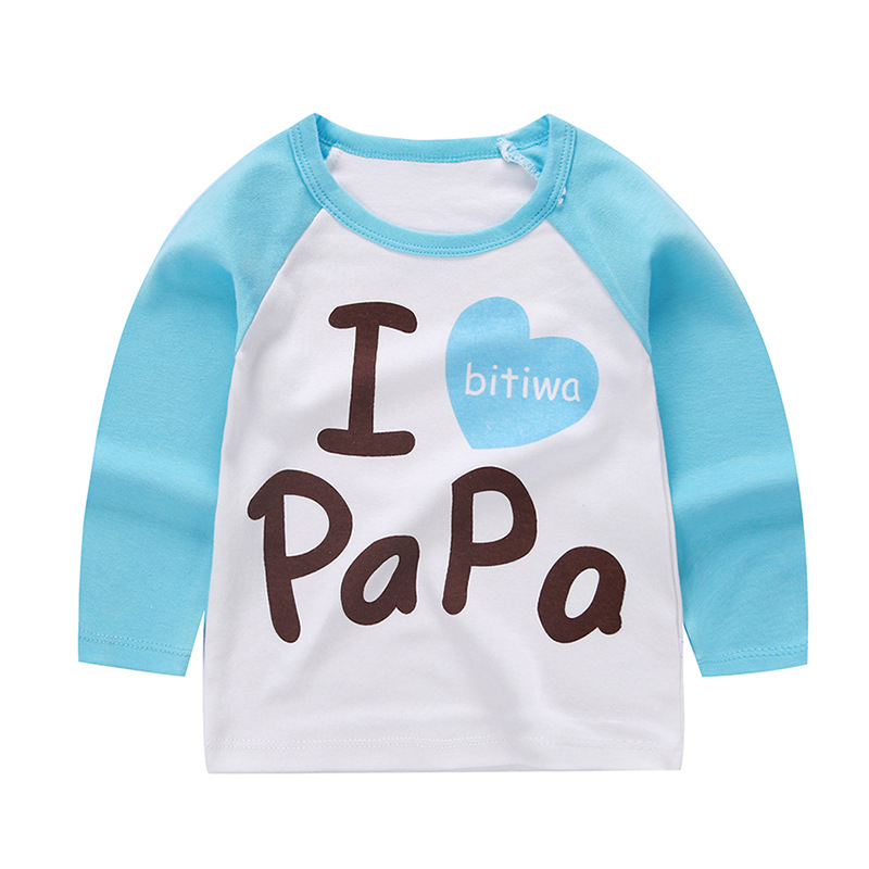 Autumn Baby Cartoon Single Shirt Clothes Boys and Girls T-shirt Baby Bottoming Shirt Winter Children's Long-sleeved Cotton 5