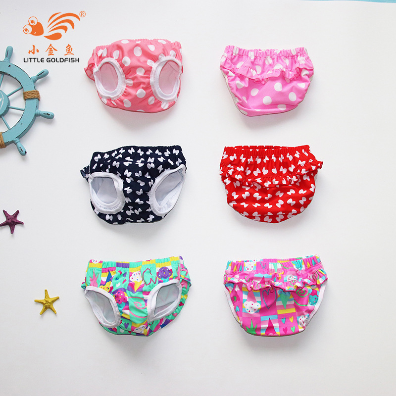 2018 New Style Baby Swimming Trunks Baby Girls Lace Industry Multi-Layer Prevention Of Urinary Leak-Proof
