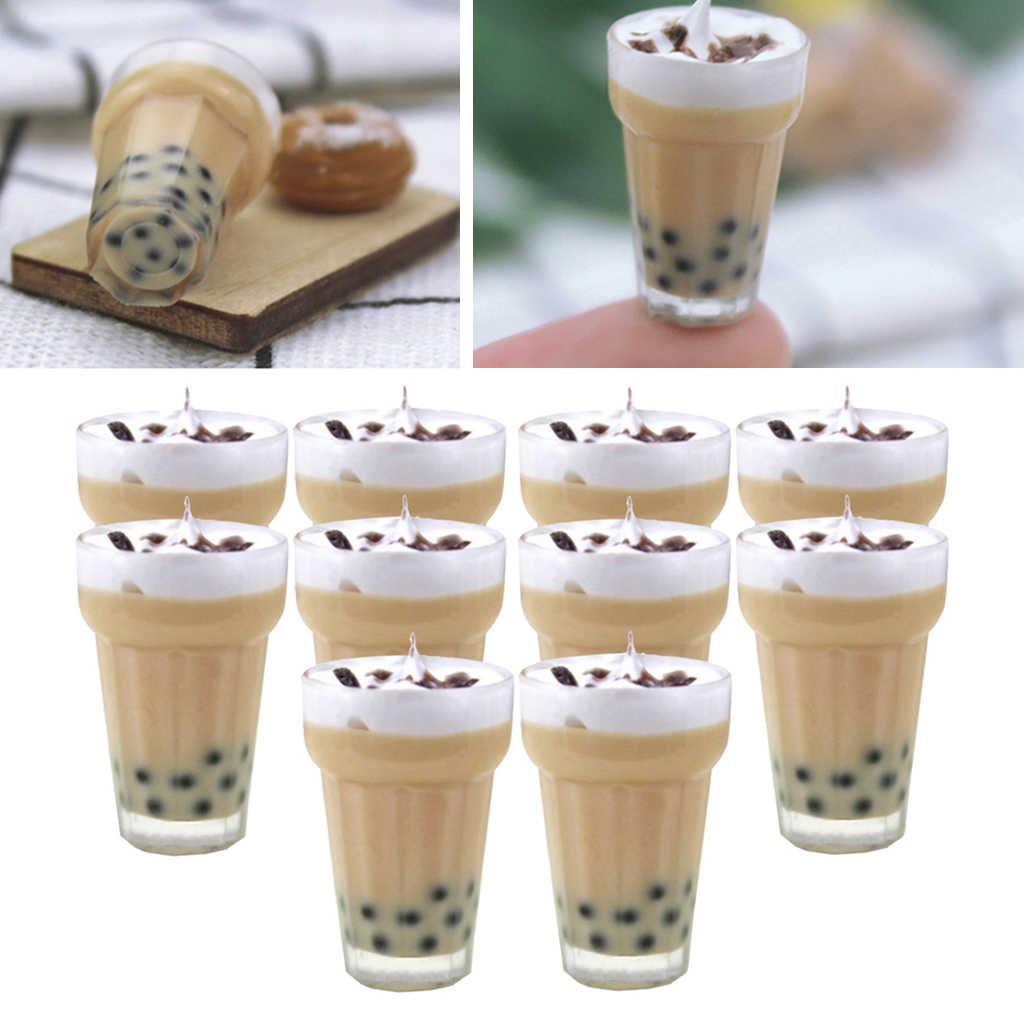 2 Pcs Miniatures Mini Milkshake Milk Tea for 1//12 Dollhouse Dining Table Decor