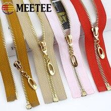 1/2pcs 5# Metal Zippers 60/70/80/85/100cm Gold Teeth Open-end Zip for Down Jacket Coat Garment Repair Kit DIY Sewing Accessories