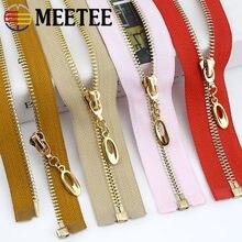 1/2 adet 5 # Metal fermuarlar 60/70/80/85/100cm altın diş açık uçlu Zip aşağı ceket ceket konfeksiyon tamir kiti DIY dikiş aksesuarları