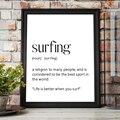 Surf Арт плакат для занятий серфингом высокой четкости с принтом с цитатой Surfer подарок на день рождения в минималистском стиле настенный худо...