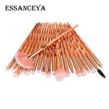 ESSANCEYA Pro 5-20Pcs Diamond Makeup Brushes Set Powder Foundation Blush Eye sha