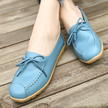 Genuine Leather Women Loafers Flats Shoes Lace-up Wedges New Sneakers Woman Fashion Retro High Quality Soft Ladies Casual Shoes fashion new casual flats women soft genuine leather shoes autumn spring loafers woman wo1808112