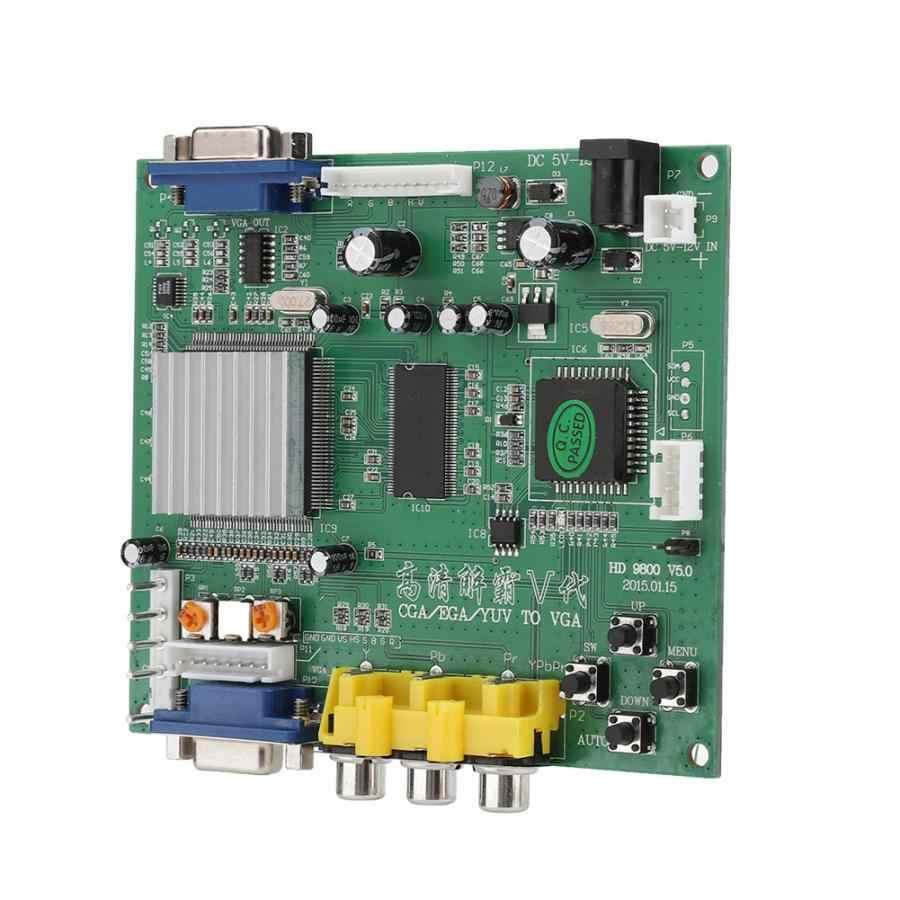 Audio Kabel Arcade Game Rgb/Cga/Ega/Yuv Naar Vga Hd Video Converter Board Ondersteunt Voor Alle vga Monitor Crt/Lcd/Pdp/Project