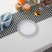 Disposable PS Plastic Tableware Party Hotel Dinner Plate Bronzing Dinner Plate