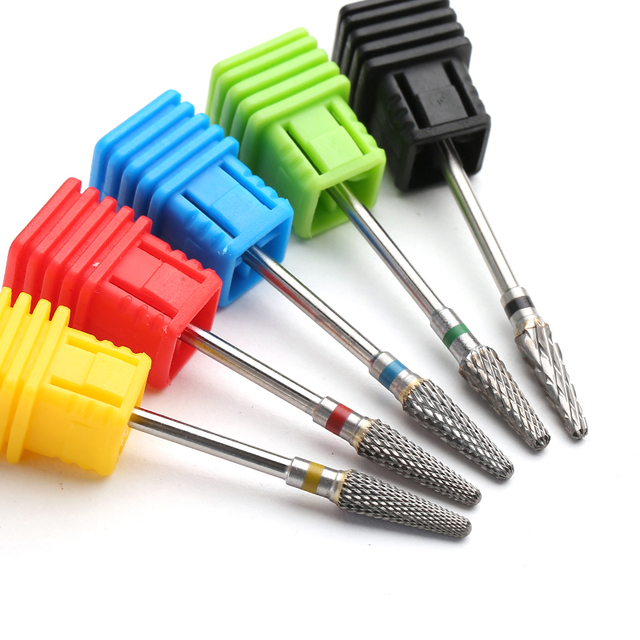1pcs Carbide Milling Cutter Nail Drill Bit for Manicure Electric Machine Accessory Cuticle Clean Nail Files Tool 3