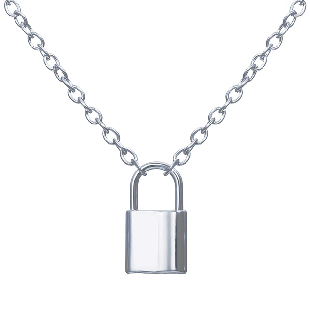 silver or gold lock necklace 6