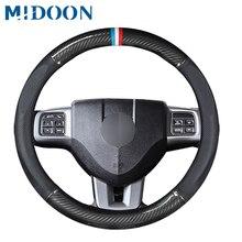 Coprivolante per auto in pelle in fibra di carbonio MIDOON per Dodge calibre Journey Ram 1500 caricatore Challenger Nitro Durango
