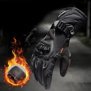 Image 2 - Winter Warme Motorrad Handschuhe Wasserdicht Touchscreen Schutz Guantes Moto Motocross Handschuhe für Motorrad Motocicletas