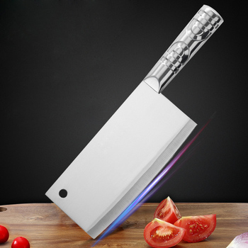 Shuoji Stainless Steel Chinese Cleaver Chopping Kitchen Knife Chef Butcher Knives Fish Meat Vegetables Cutlery Cooking Tools
