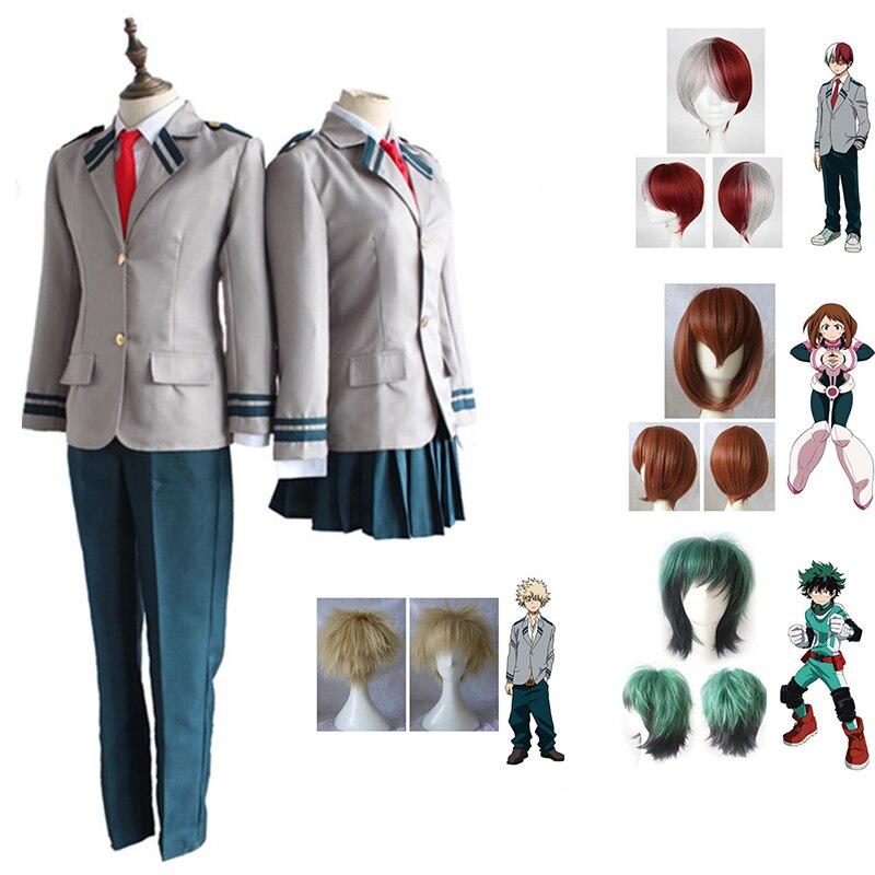 Anime Boku No Hero Academia Cosplay Costume  AsuiTsuyu Yaoyorozu Momo School Uniform My Hero Academy Ochako Uraraka Gift