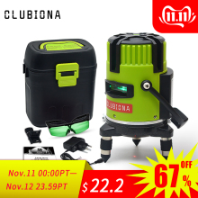 CLUBIONA Laser-Level Beam-Line Slash Rotary Mode-Receiver Green Outdoor Tilt Red And
