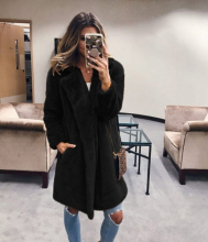 LOOZYKIT Winter Women Faux Fur Coat Luxury Long Fur Coat Loose Lapel OverCoat Fur Jacket Thick Warm Plus Size Female Plush Coats amazon top sale pullover multicolor coat women overcoat faux fur winter coats