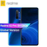 "Global Version Realme X2 Pro 6.5"" MobliePhone 8GB 128GB Snapdragon 855 Plus Smartphone 50W Fast Charge In-Screen Fingerprint NFC"