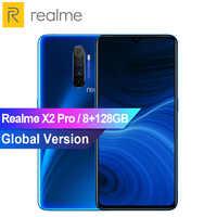 """Version mondiale Realme X2 Pro 6.5 """"téléphone mobile 8GB 128GB Snapdragon 855 Plus Smartphone 50W Charge rapide à l'écran empreinte digitale NFC"""