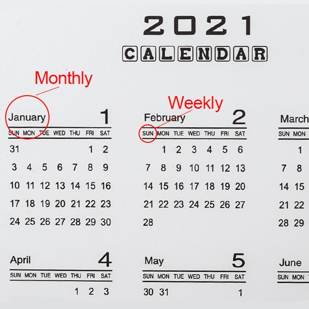2021 Calendar PP Divider 6 Holes A5 A6 Loose Leaf Notebook Category Inner Filofax Sheet Index Binder Clip Planner Planner H6S5
