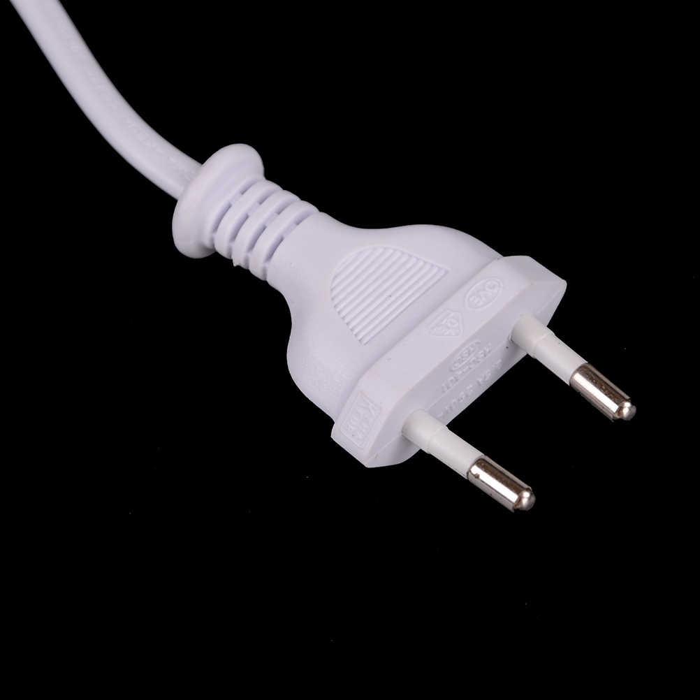2-prong przewód zasilający biały 1.5M europejski Port AC przewód zasilający, kabel Slim kabel zasilający dla większości drukarki i adaptery do laptopów