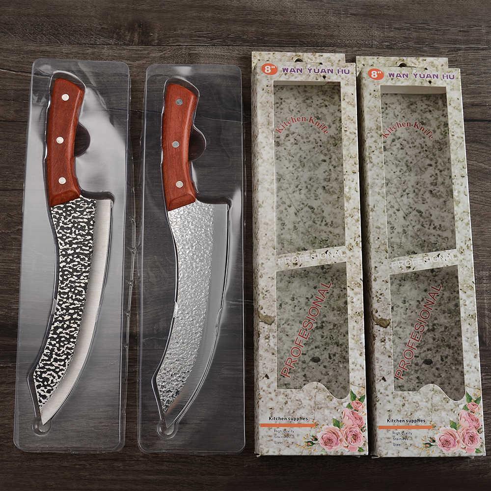 XYj 6 cal 8 cal trybowanie nóż kuchenny kute ręcznie Camping odkryty ryby krojenie fileting stek pełna Tang plastry wołowiny nóż