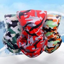 Cycling Face Mask Multicolor Cycling Camouflage Face Mask Women Men Lightweight Breathable Sunscreen Refreshing Scarf Headwear