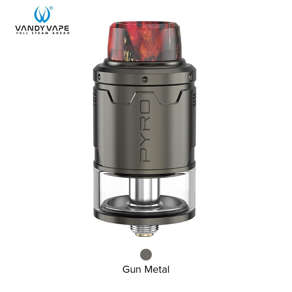 Vandy vape Пиро V3 RDTA майка с 5 шт./упак. для детей возрастом от 4 мл/2 мл Ёмкость 0.33ohm Совместимость Vandyvape коробка мод электронная сигарета - Цвет: Gunmetal