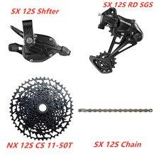 SRAM SX EAGLE ensemble de vitesses, avec dérailleur manette de vitesse, chaîne KMC, NX 1230, 11 50T 10 50T