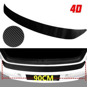 Car SUV Rear Bumper Sill Protector Plate Rubber Cover Guard Pad Moulding Trim CSV