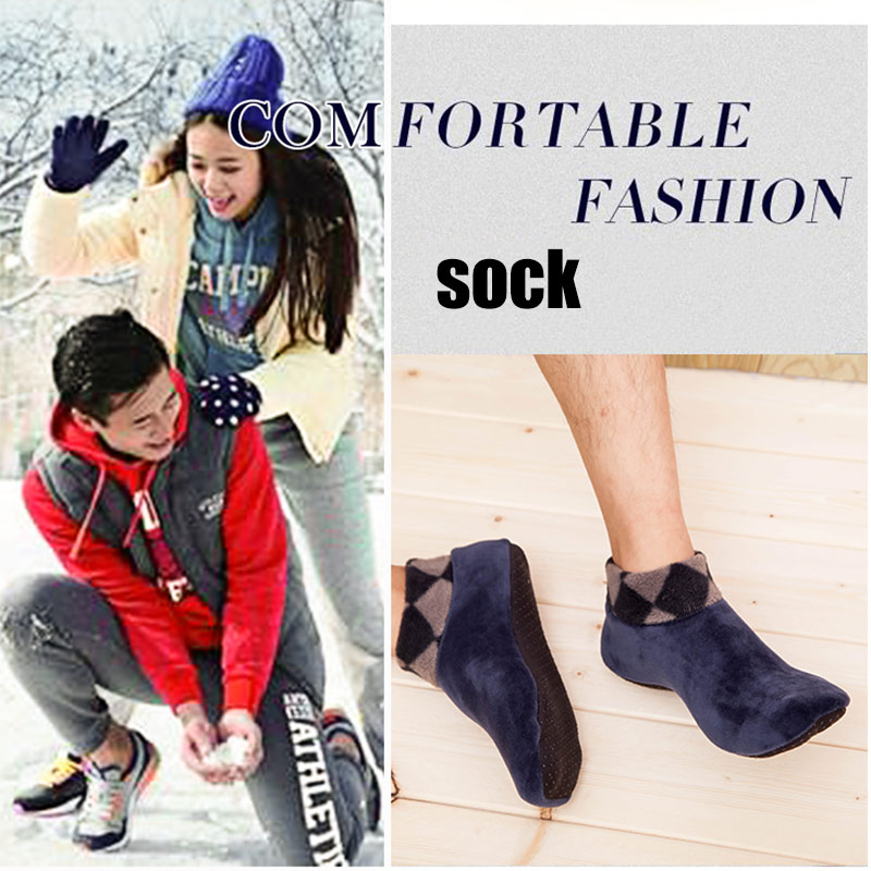 Men Women Thicken Winter Warm Socks Non Slip Indoor Floor Soft Casual Slipper Hosiery O66