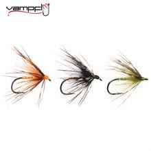Vampfly 8 pçs tamanho #12 tenkara nymph mosca molhada truta pesca mosca suave hackle aranha truta voa isca iscas preto laranja amarelo