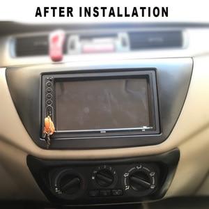 Image 5 - 2pcs AC Control Panel Car Radio Fascia for Mitsubishi Lancer IX 2006 Center Control DVD Player Trim Kit 2 Din Frame for Radio