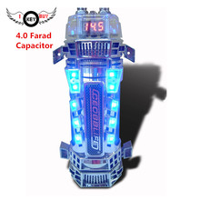 4.0 Farad Super Power Capacitor Car Audio Subwoofer Modified with Lights LED Voltage Display 4F Filter Capacitor Stabilized Pond